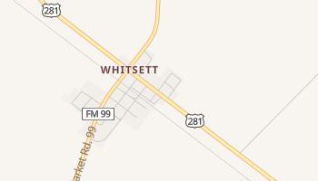 Whitsett, Texas map