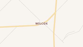 Wilcox, Texas map