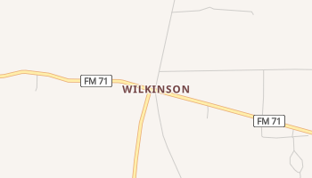 Wilkinson, Texas map