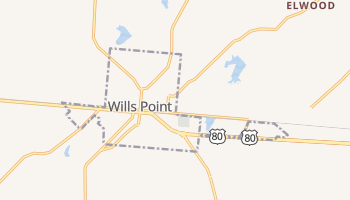 Wills Point, Texas map