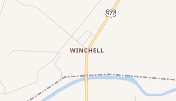 Winchell, Texas map