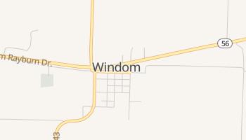Windom, Texas map