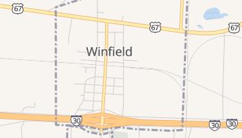 Winfield, Texas map