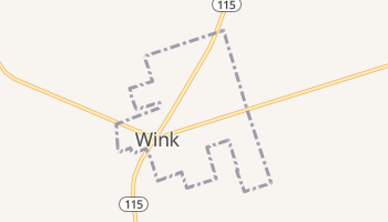 Wink, Texas map
