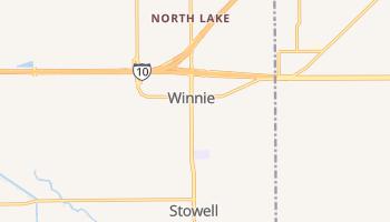 Winnie, Texas map