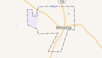Winona, Texas map