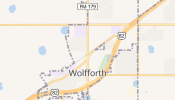 Wolfforth, Texas map