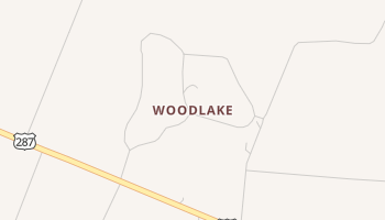 Woodlake, Texas map