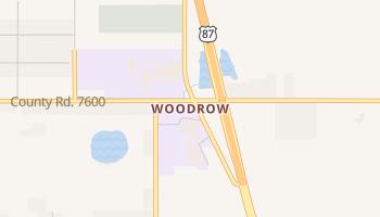 Woodrow, Texas map