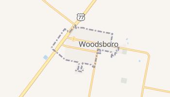 Woodsboro, Texas map