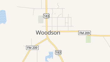 Woodson, Texas map