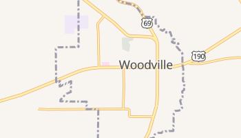 Woodville, Texas map