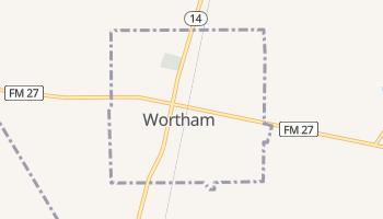 Wortham, Texas map