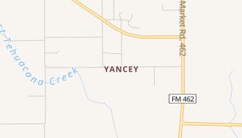 Yancey, Texas map
