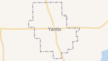 Yantis, Texas map