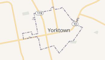 Yorktown, Texas map