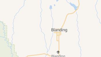 Blanding, Utah map