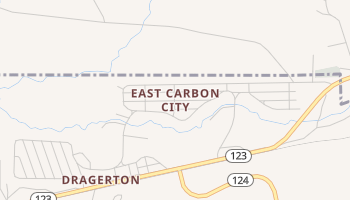 East Carbon City, Utah map