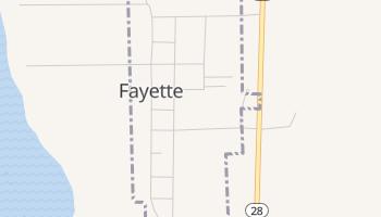 Fayette, Utah map