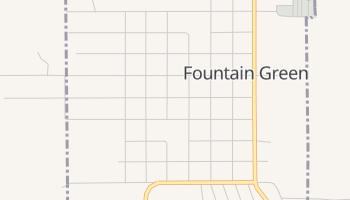 Fountain Green, Utah map