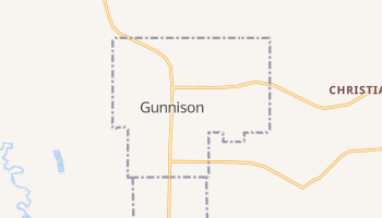 Gunnison, Utah map