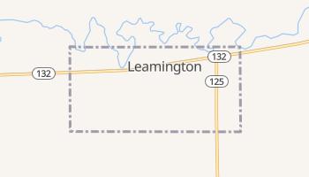 Leamington, Utah map