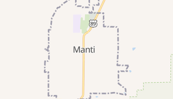 Manti, Utah map