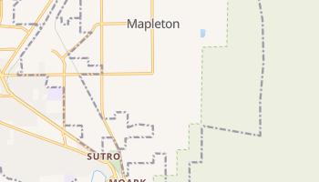Mapleton, Utah map