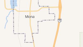 Mona, Utah map