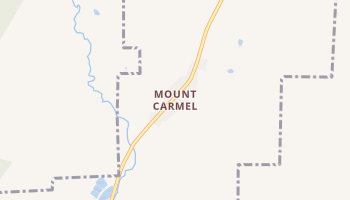Mount Carmel, Utah map