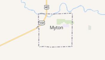 Myton, Utah map