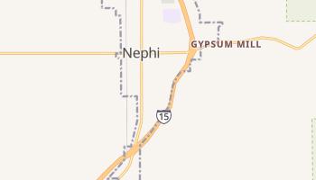Nephi, Utah map