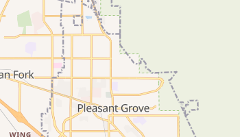 Pleasant Grove, Utah map