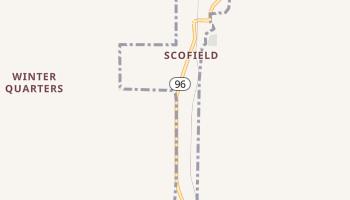 Scofield, Utah map