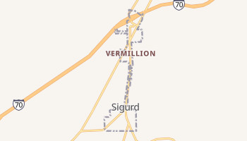 Sigurd, Utah map