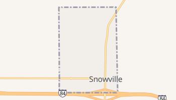 Snowville, Utah map