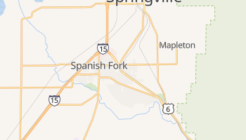 Spanish Fork, Utah map