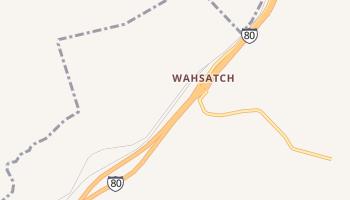 Wahsatch, Utah map