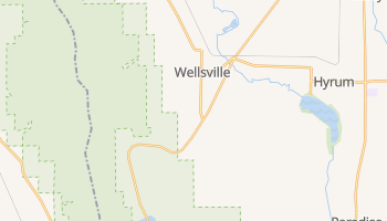 Wellsville, Utah map
