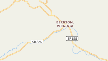 Bergton, Virginia map