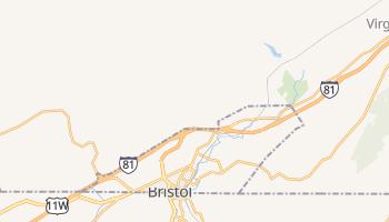 Bristol, Virginia map