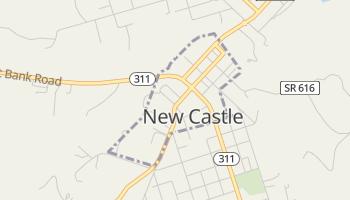 New Castle, Virginia map
