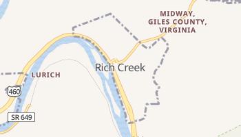Rich Creek, Virginia map