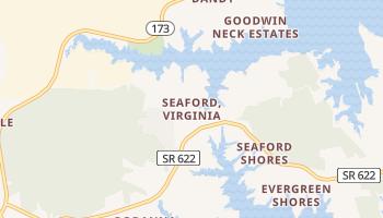 Seaford, Virginia map