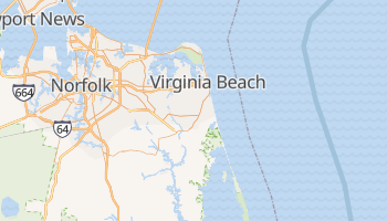 Virginia Beach, Virginia map