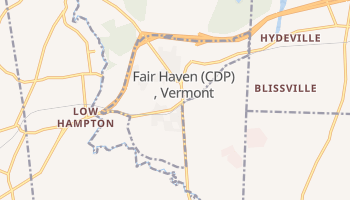 Fair Haven, Vermont map