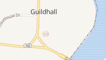Guildhall, Vermont map