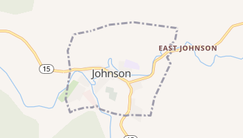 Johnson, Vermont map