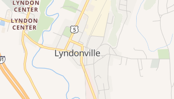 Lyndonville, Vermont map