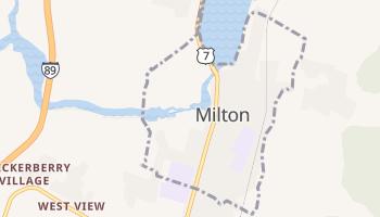 Milton, Vermont map